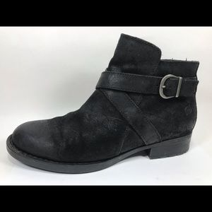 Born Suede Leather Zip Ankle Boots 9.5M
